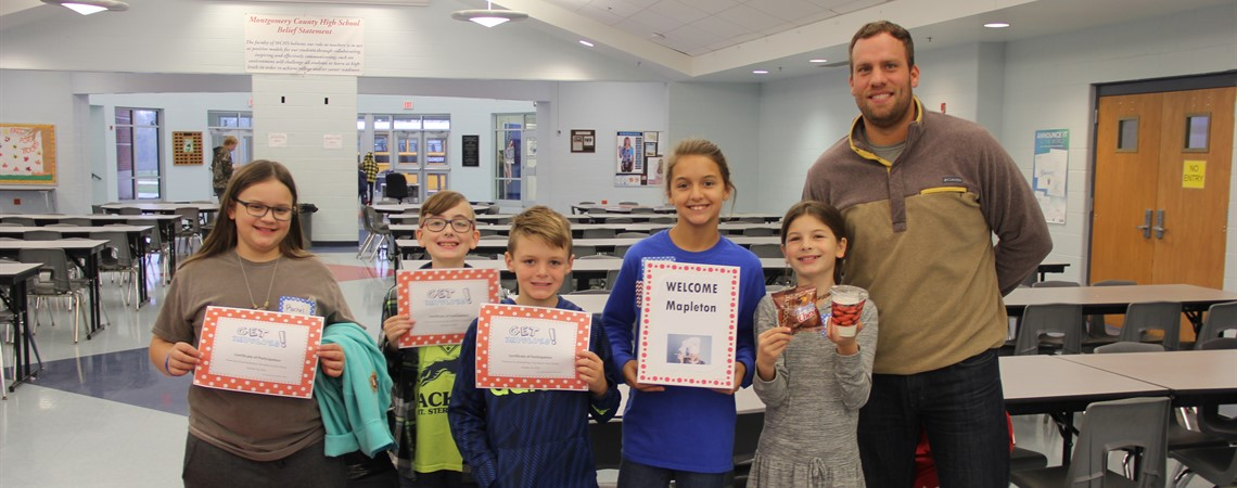 Mapleton Elementary was the winner of the School Nutrition create your own yogurt parfait contest at the district-wide food tasting in October.