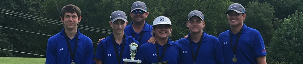 MCHS Boys' Golf Team and Coach Lawson won the Powell County Invitational.