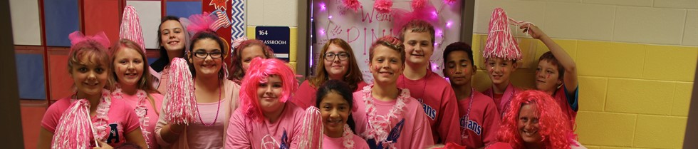 PINK out day at MCIS.