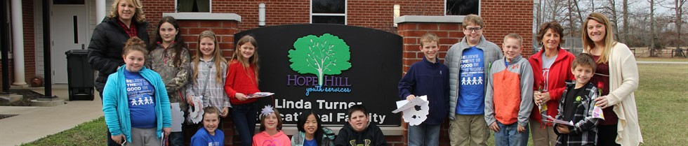 Camargo's Student Council visited Hope Hill on Valentine's Day.