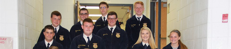 FFA students recognized at September Board Meeting.