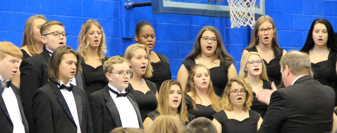 Choir singing at the Veterans Day Ceremony.