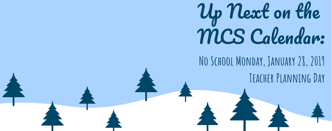 No School Monday, January 29