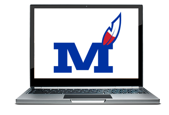 Chromebook with Montgomery County Logo