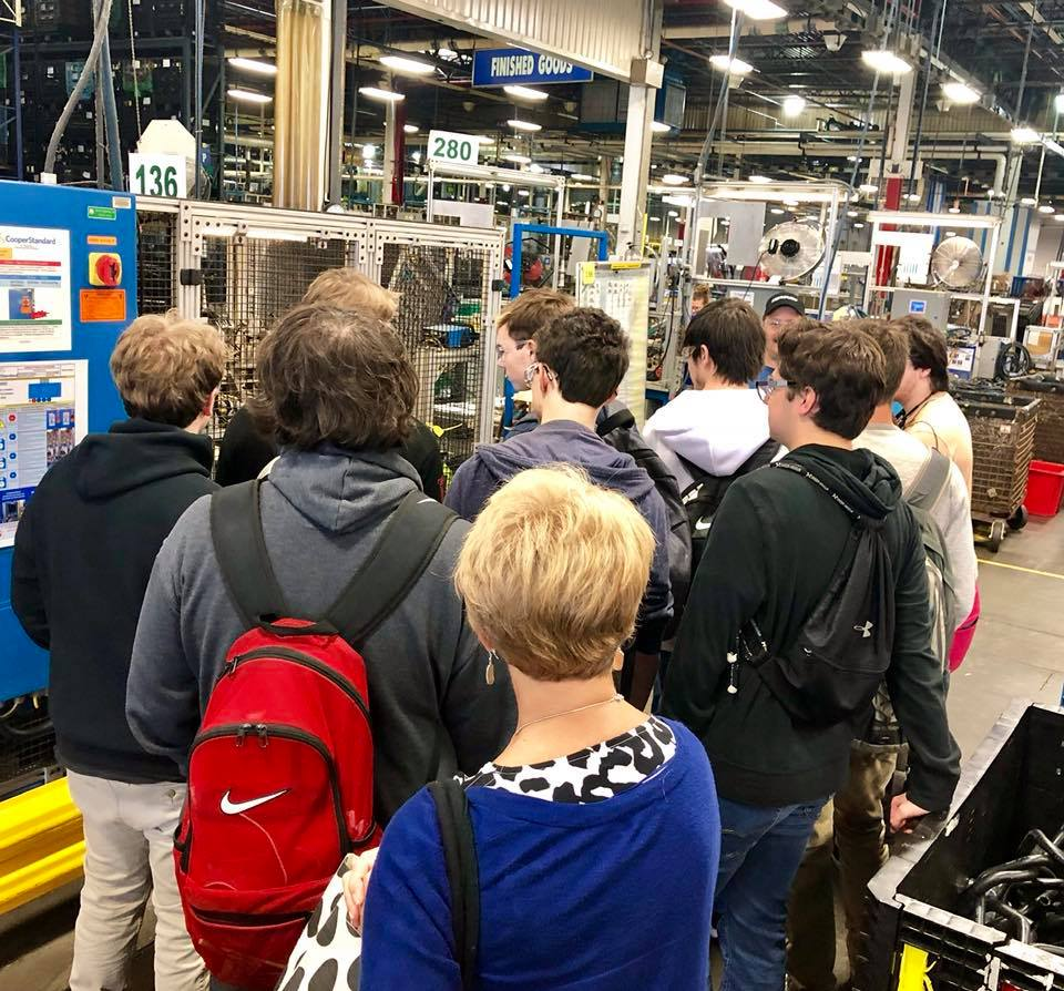 MCHS students tour local manufacturing facilities.